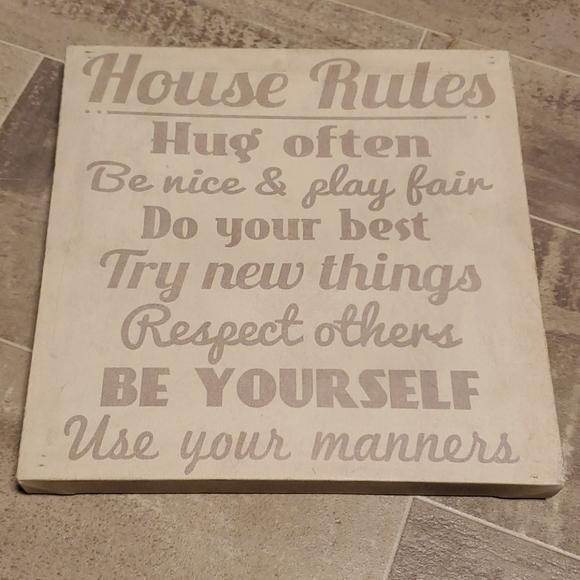 EUC House Rules Wall Canvas Decor